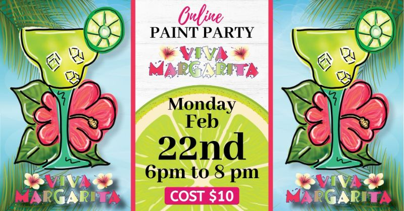 Viva Margarita!- Online paint party! (Zoom)