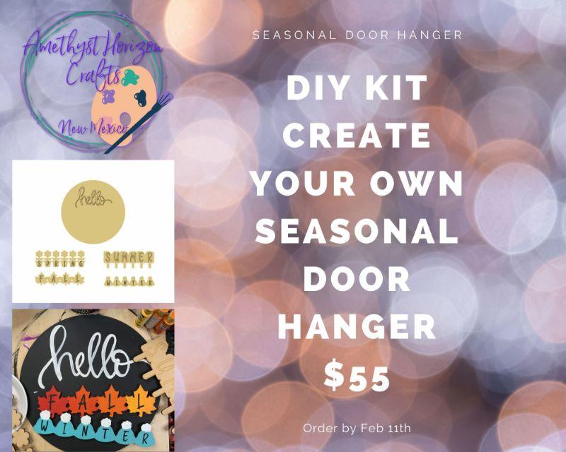 Seasons- Paint your own Door Hanger-Online event!