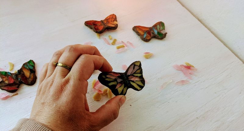Virtual Craft Party - Mosaic Butterfly Magnets