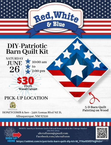 Patriotic Barn Quilt- DIY Kit