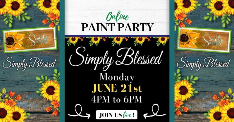 Simply Blessed- ONLINE Paint Party