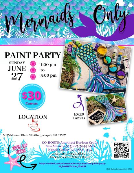 Mermaids only- IN PERSON Paint Party