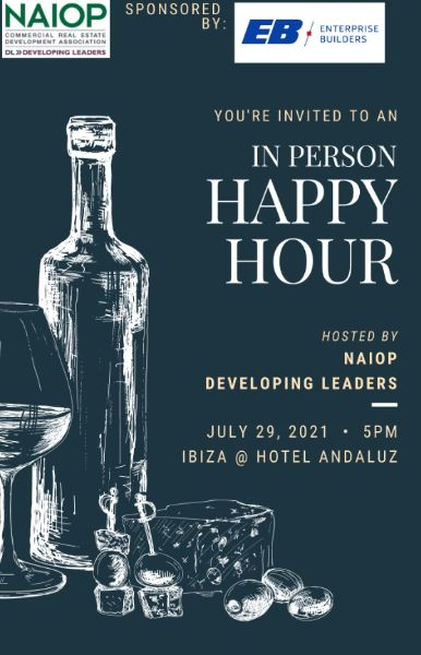 July 29th (NOTE NEW DATE) Developing Leader Happy Hour