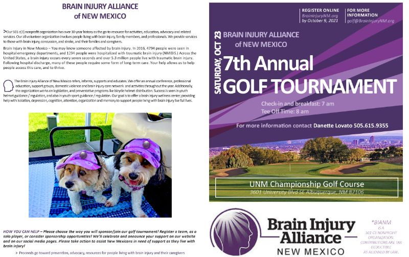 UNM Championship Golf for Brain Injury Awareness - Sat Oct 23