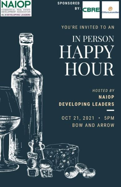NAIOP DL Happy Hour October 21, 2021 5PM