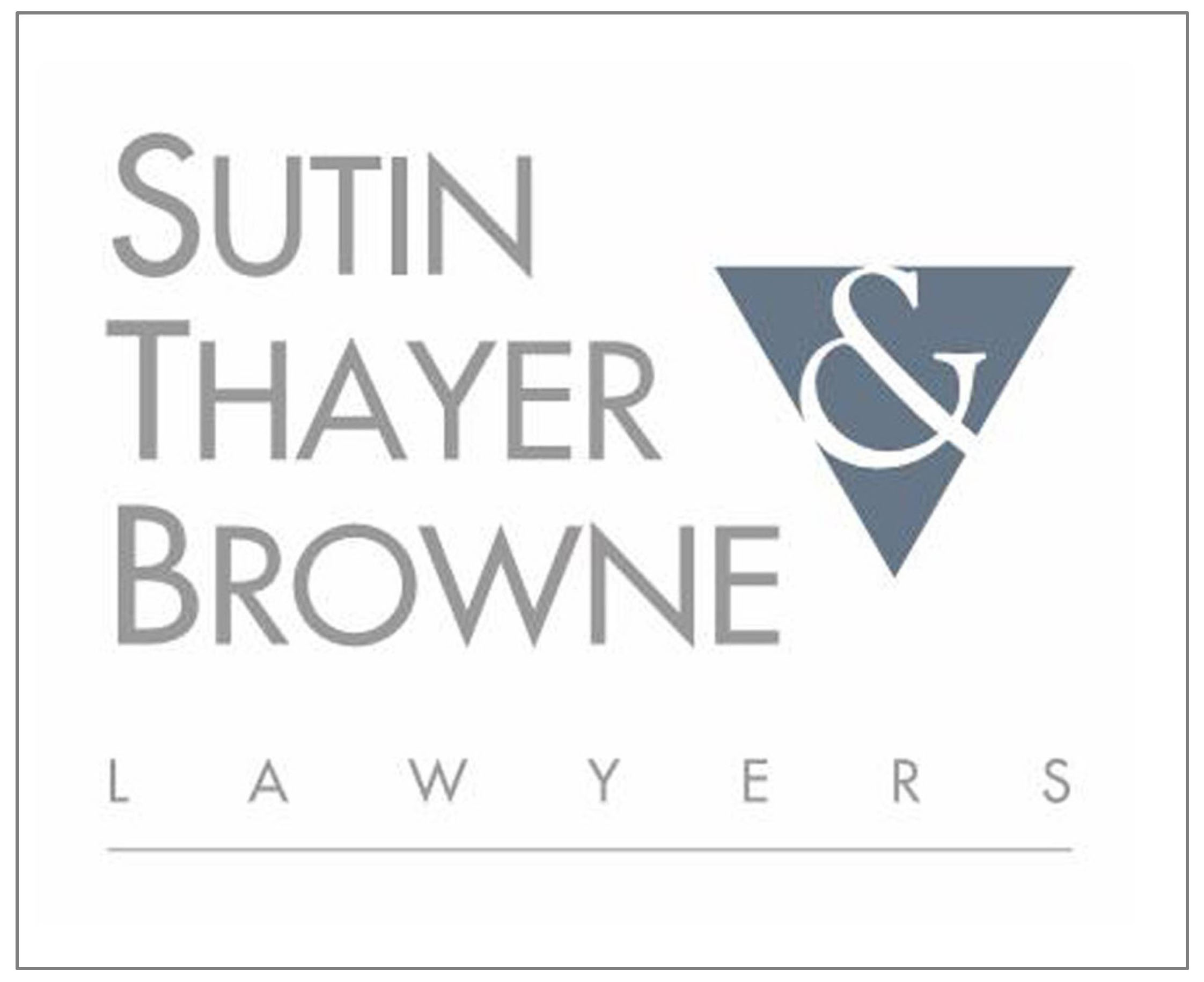 Thank you, Sutin, Thayer & Browne Lawyers!