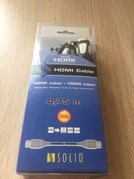 Solid HDMI kabel 0,75m