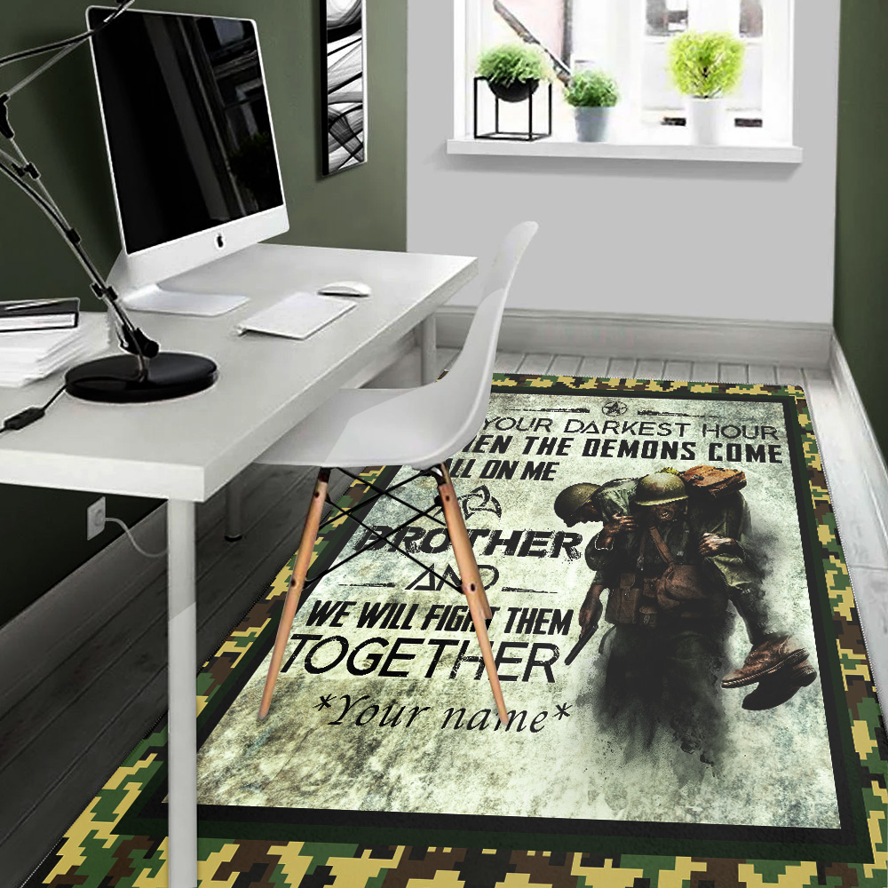 Personalized Floor Area Rugs Call On Me Brother And We Will Fight Them Together Indoor Home Decor Carpets Suitable For Children Living Room Bedroom Birthday Christmas Aniversary