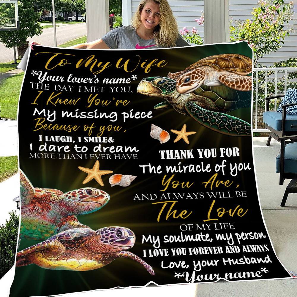 Personalized Fleece Throw Blanket To My Wife You Are And Always Will Be The Love Of My Life  Lightweight Super Soft Cozy For Decorative Couch Sofa Bed