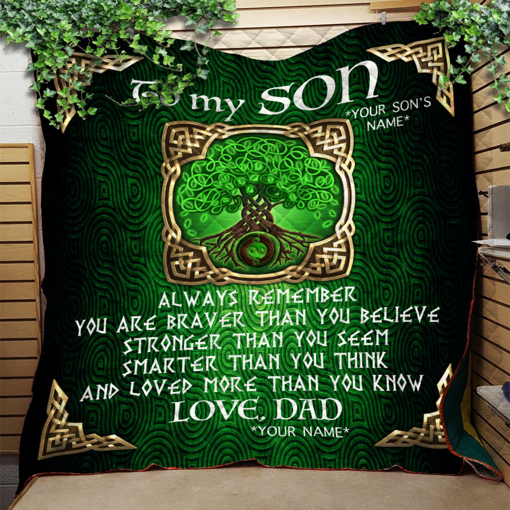 Personalized Quilt Throw Blanket To My Son You Are Loved More Than You Know Lightweight Super Soft Cozy For Decorative Couch Sofa Bed
