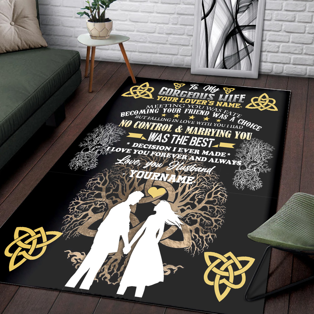 Personalized Floor Area Rugs To My Wife I Love You Forever And Always Indoor Home Decor Carpets Suitable For Children Living Room Bedroom Birthday Christmas Aniversary