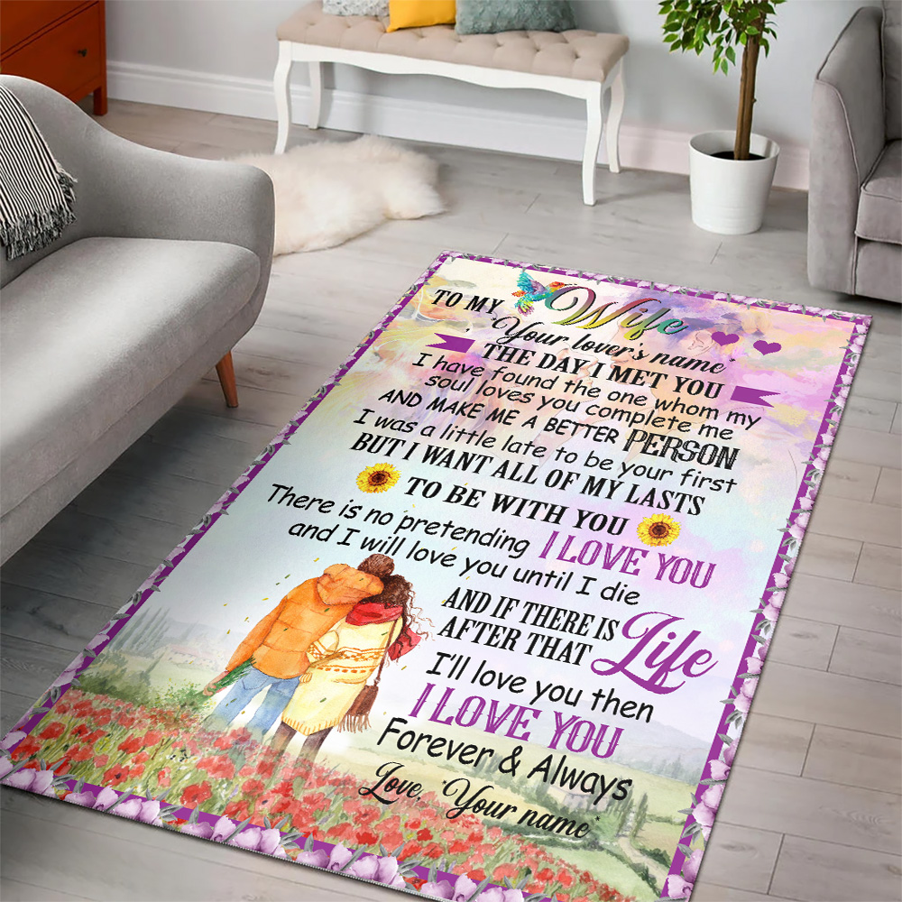 Personalized Floor Area Rugs To My Wife I Want All Of My Lasts To Be With You Indoor Home Decor Carpets Suitable For Children Living Room Bedroom Birthday Christmas Aniversary