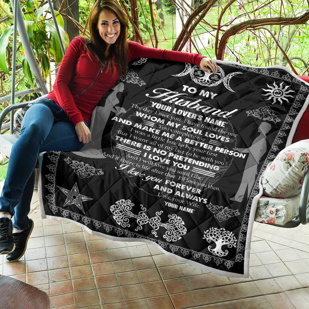 Personalized Quilt Throw Blanket To My Husband You Complete Me And Make Me A Better Person Lightweight Super Soft Cozy For Decorative Couch Sofa Bed