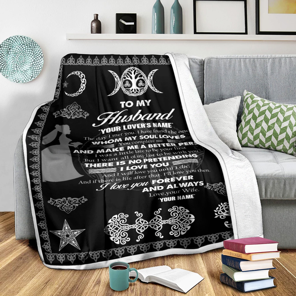 Personalized Fleece Throw Blanket To My Husband You Complete Me And Make Me A Better Person Lightweight Super Soft Cozy For Decorative Couch Sofa Bed
