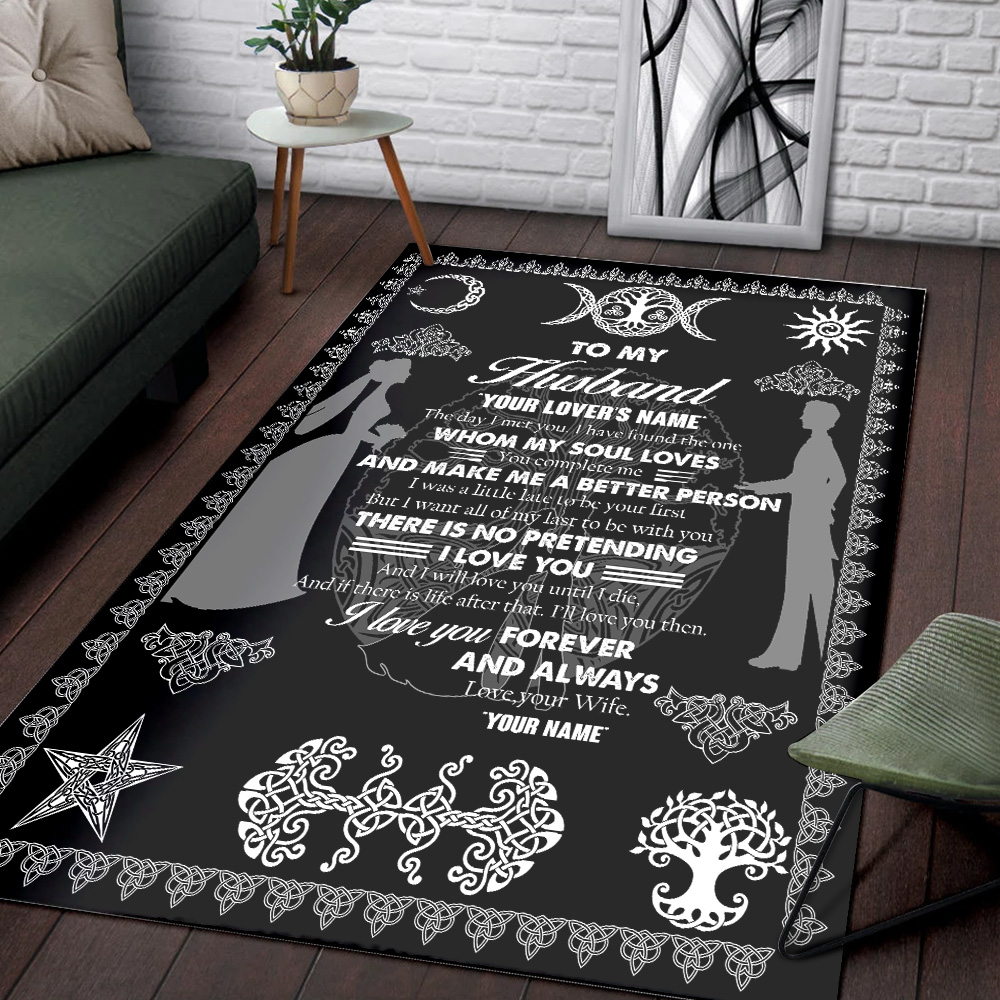 Personalized Floor Area Rugs To My Husband You Complete Me And Make Me A Better Person Indoor Home Decor Carpets Suitable For Children Living Room Bedroom Birthday Christmas Aniversary