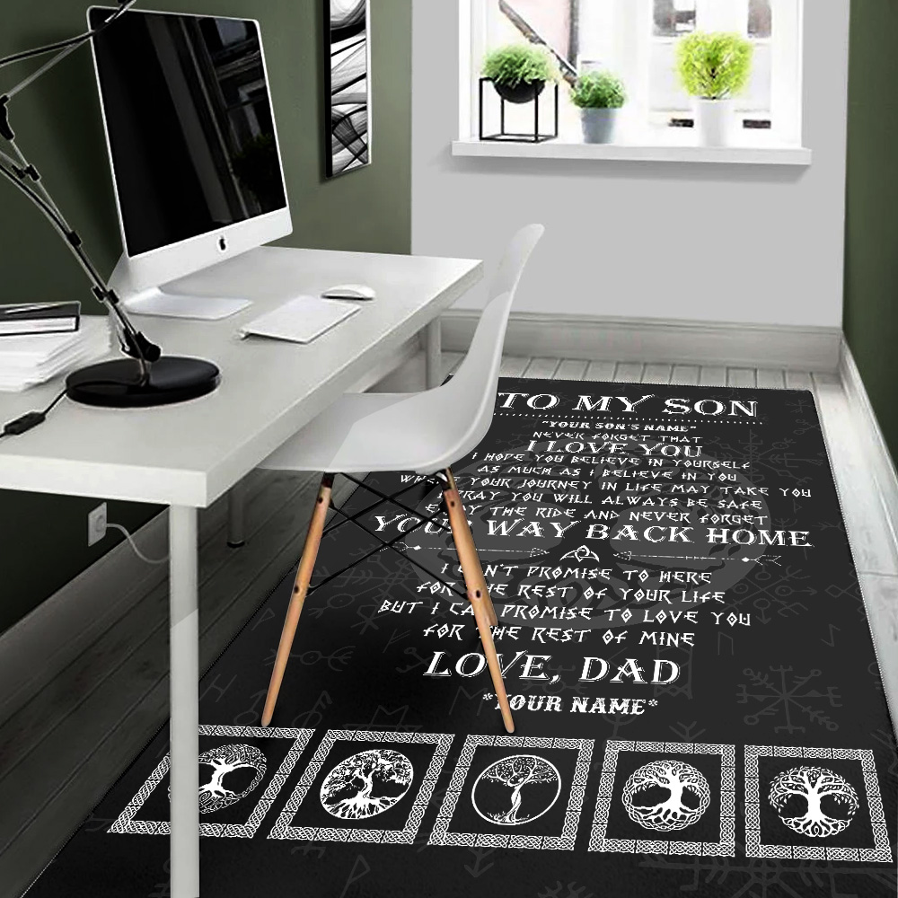 Personalized Floor Area Rugs To My Son Never Forget That I Love You Indoor Home Decor Carpets Suitable For Children Living Room Bedroom Birthday Christmas Aniversary