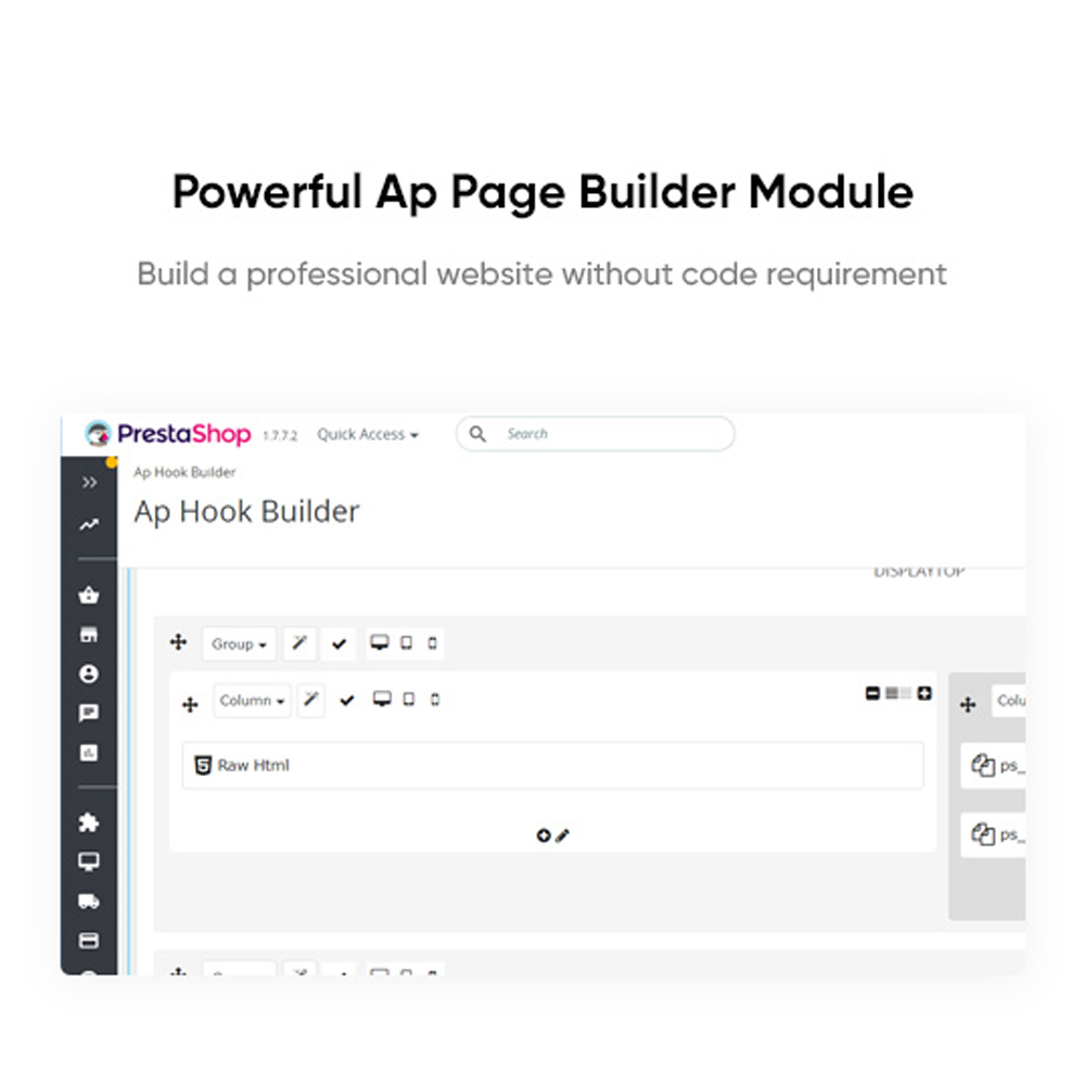 Powerful Ap Page Builder ModuleBuild a professional website without code requirement