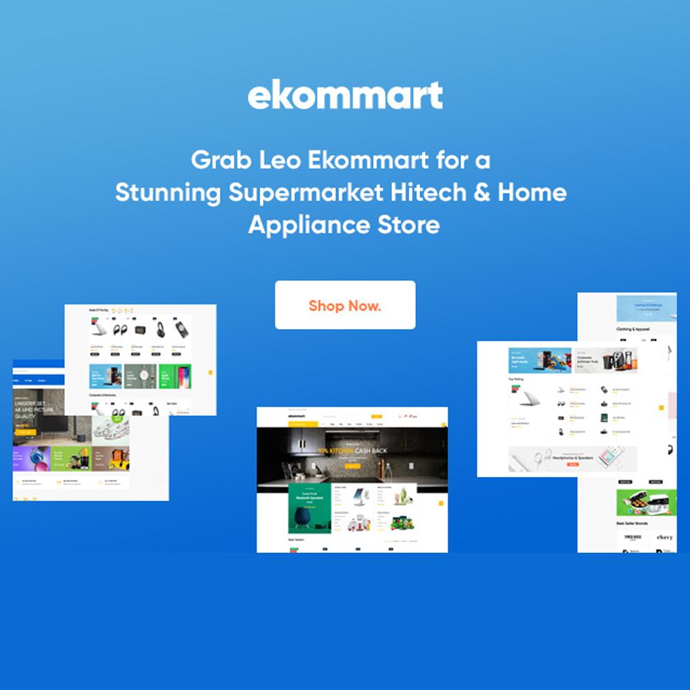 Grab Leo Ekommart for a Stunning Supermarket Hitech & Home Appliance Store
