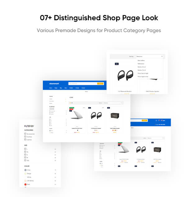 07+ Distinguished Shop Page Look