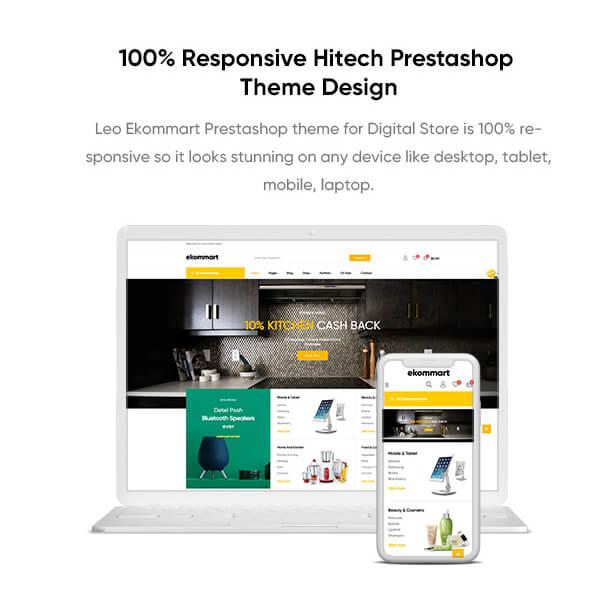 Responsive Hitech Prestashop Theme Design