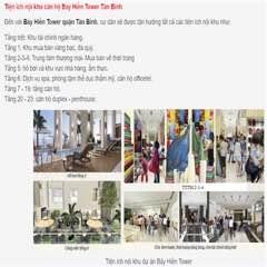 Cho thuê căn hộ Tower Bảy Hiền giá 15trieu/tháng