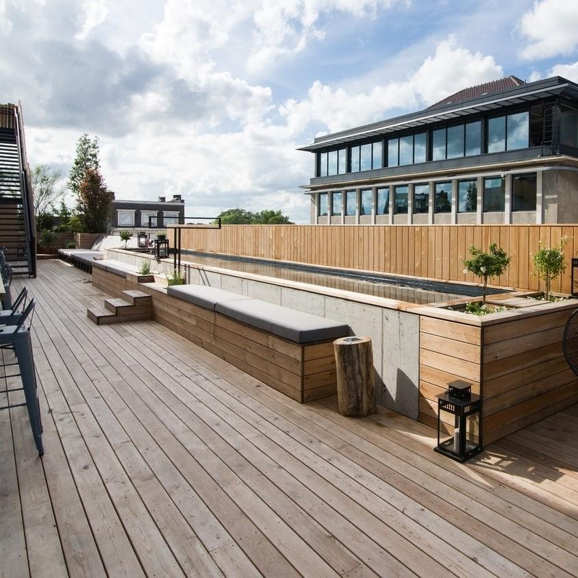 Toit-terrasse avec piscine - Hôtel Jam - Bruxelles - Derbigum