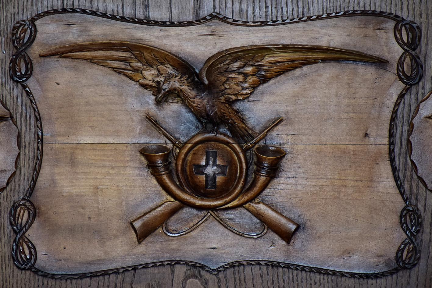Sull'altare della cappelletta del Camino