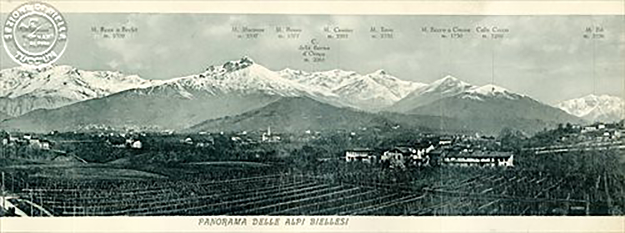 Panorama delle Alpi Biellesi