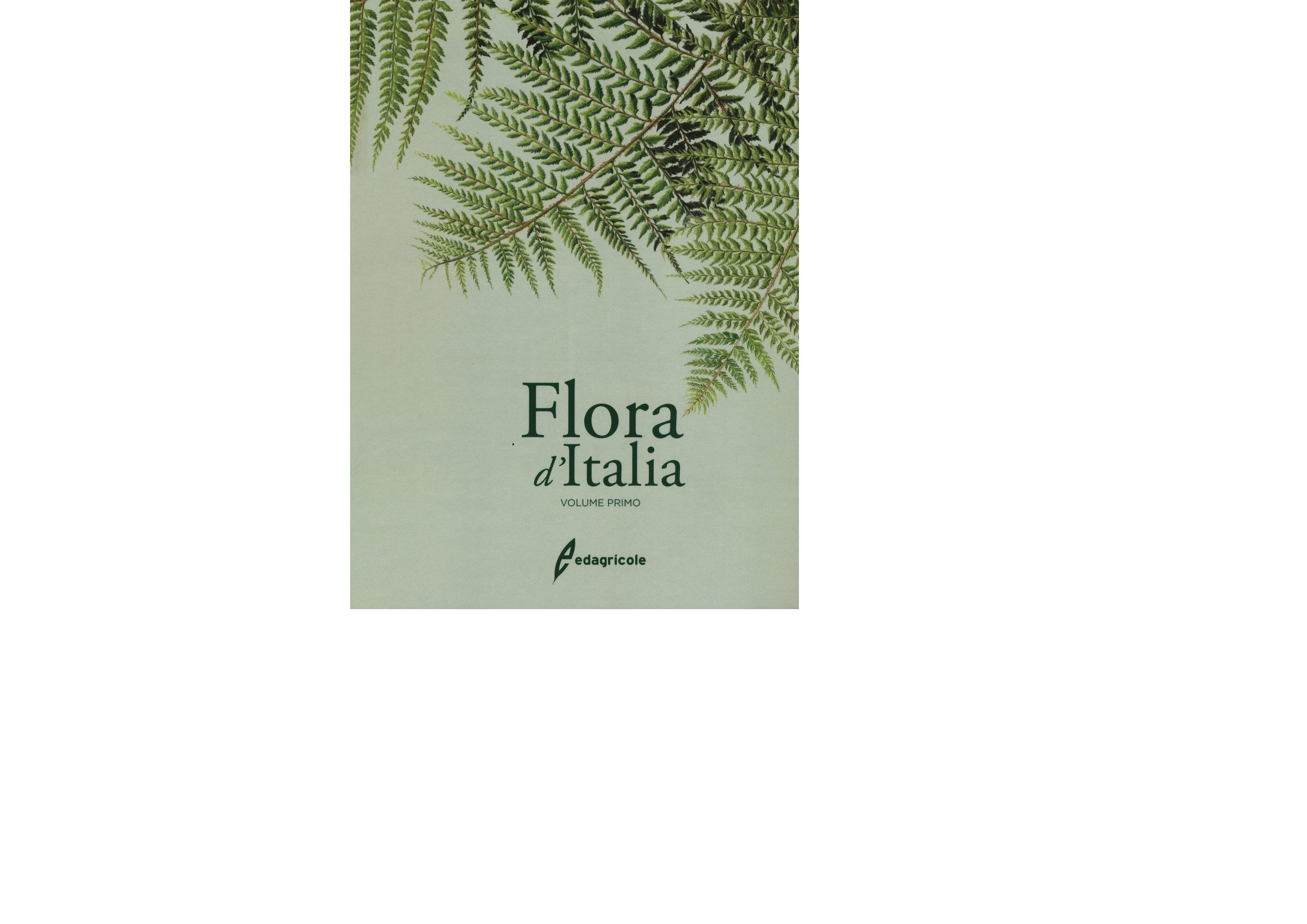 Flora d'Italia, vol. 1, copertina