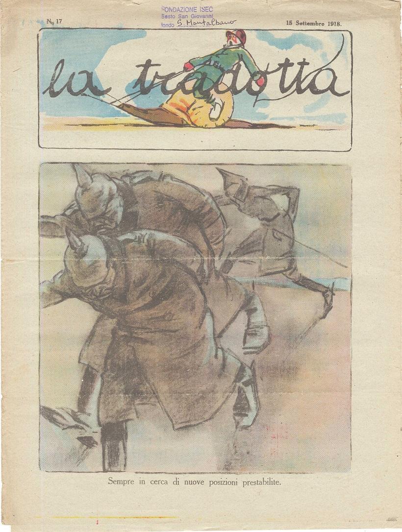 """Prima pagina de """"La Tradotta"""", 15 settembre 1918"""