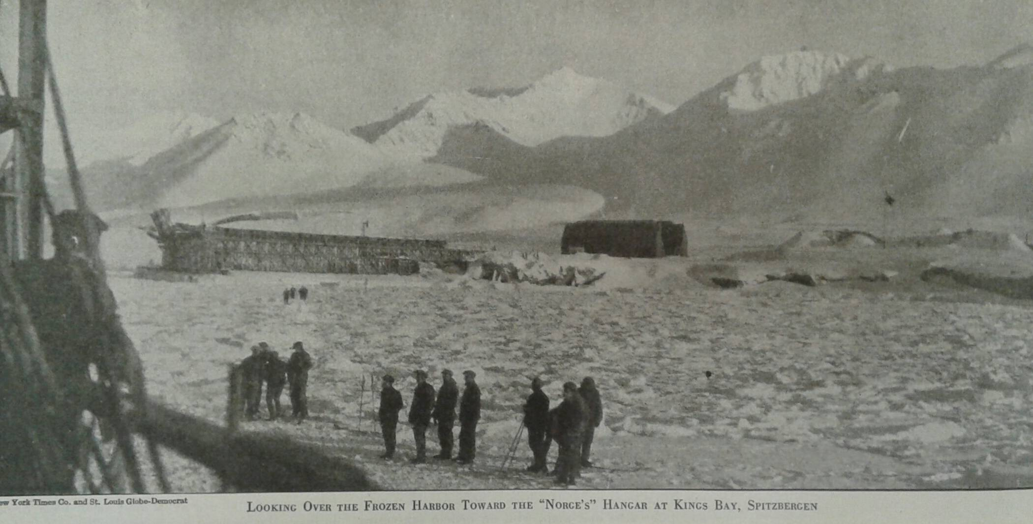"L'hangar del ""Norge"" a Kingsbay, ""Scientific American"", aug. 1926"