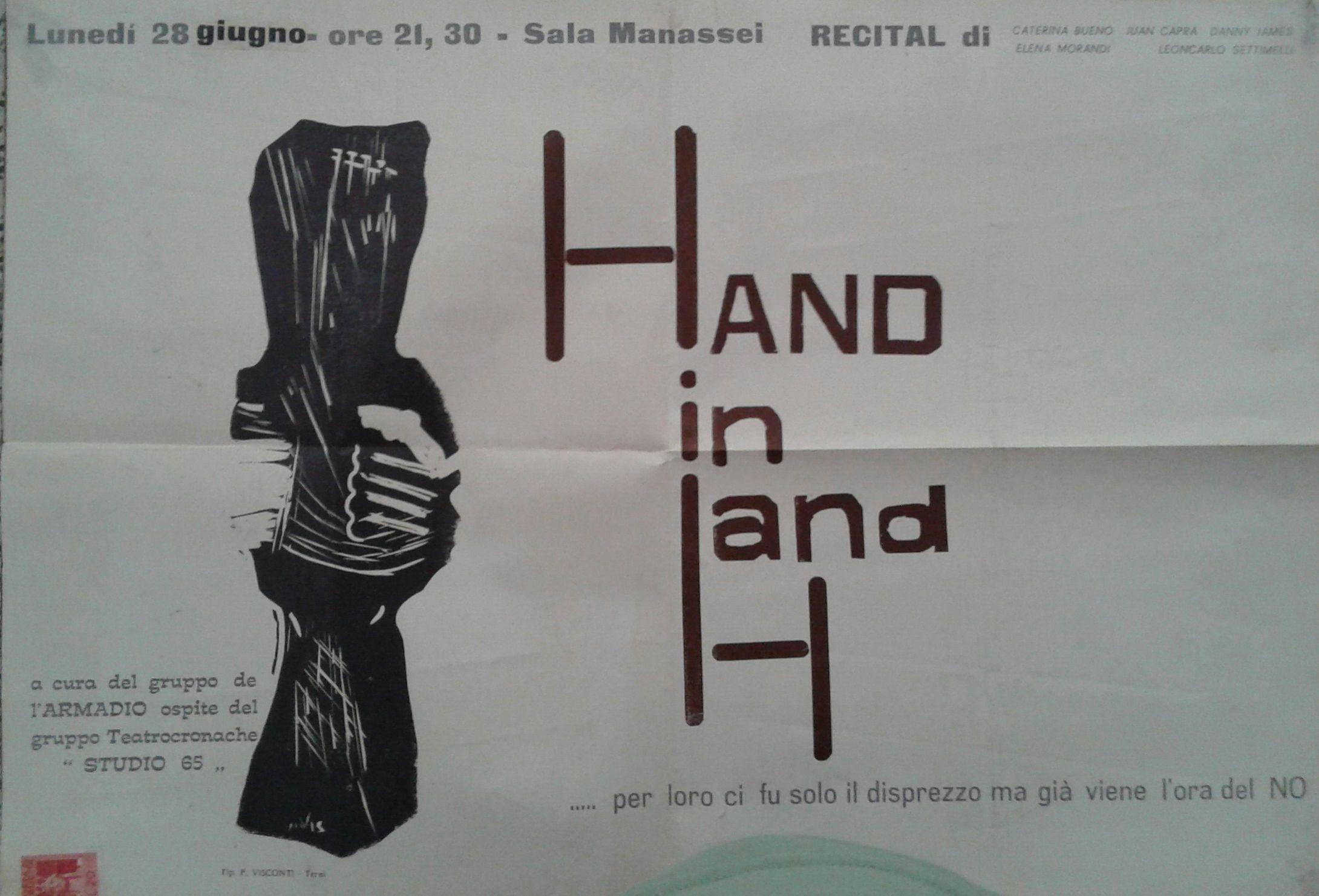 """Manifesto di uno spettacolo presentato a """"L'Armadio"""", [1965]"""