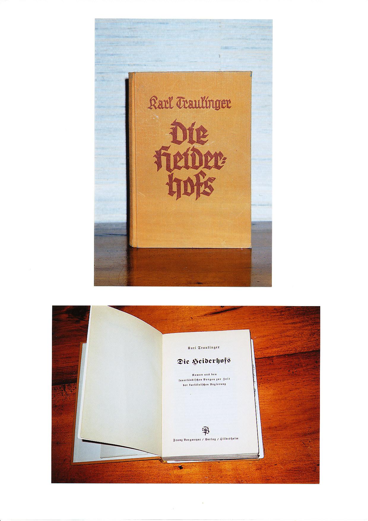 Copertina e frontespizio del romanzo storico scritto da Carlo Travaglini nel 1935.