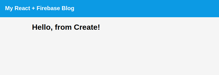 The create page.