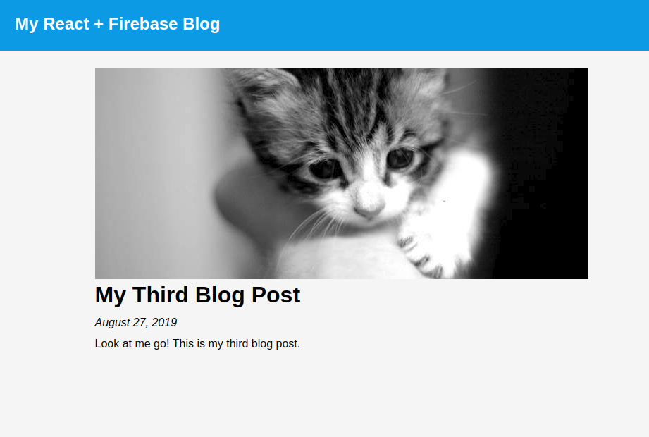 Screenshot of a single blog post's page.