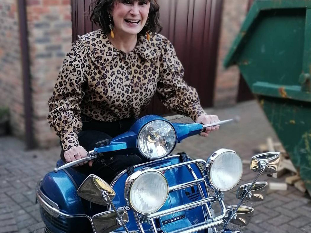 Winner Maeve Beard of a Piaggio Vespa PX125 - 1999 - 15th Feb