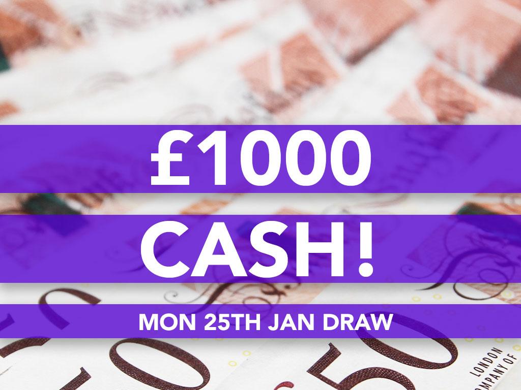 £1000 Cash