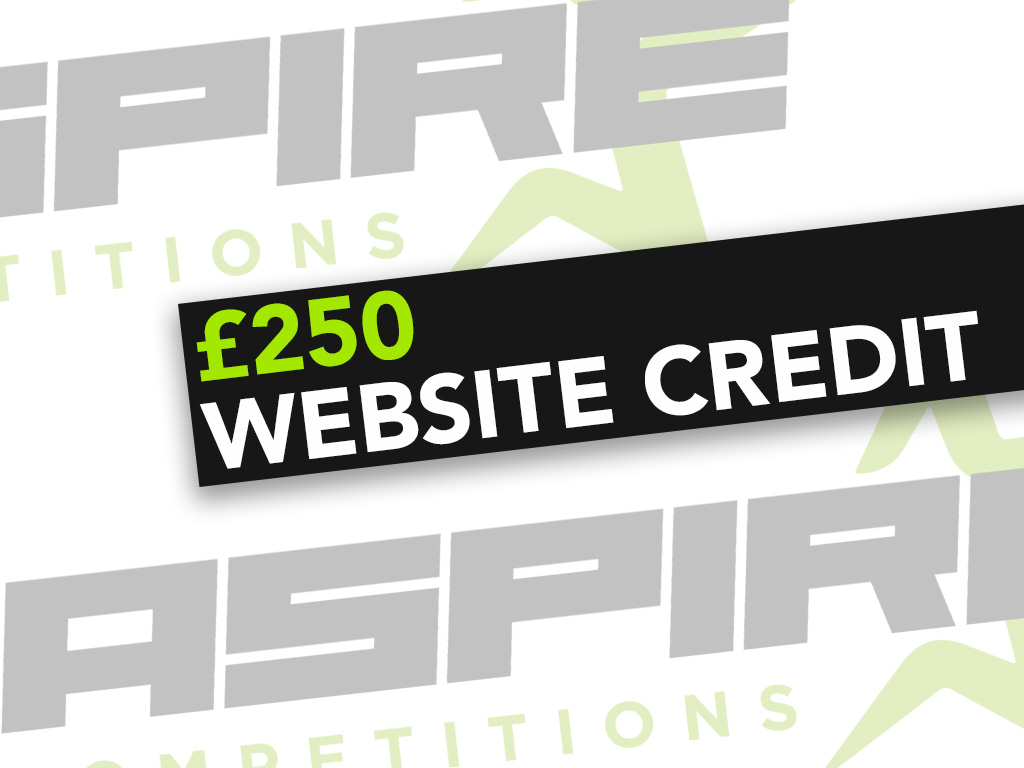£250 Website Credit - 1st March