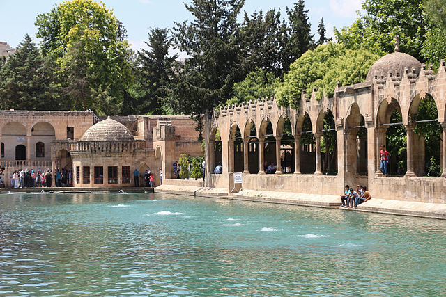 Abraham's pool in the Urfa mosque