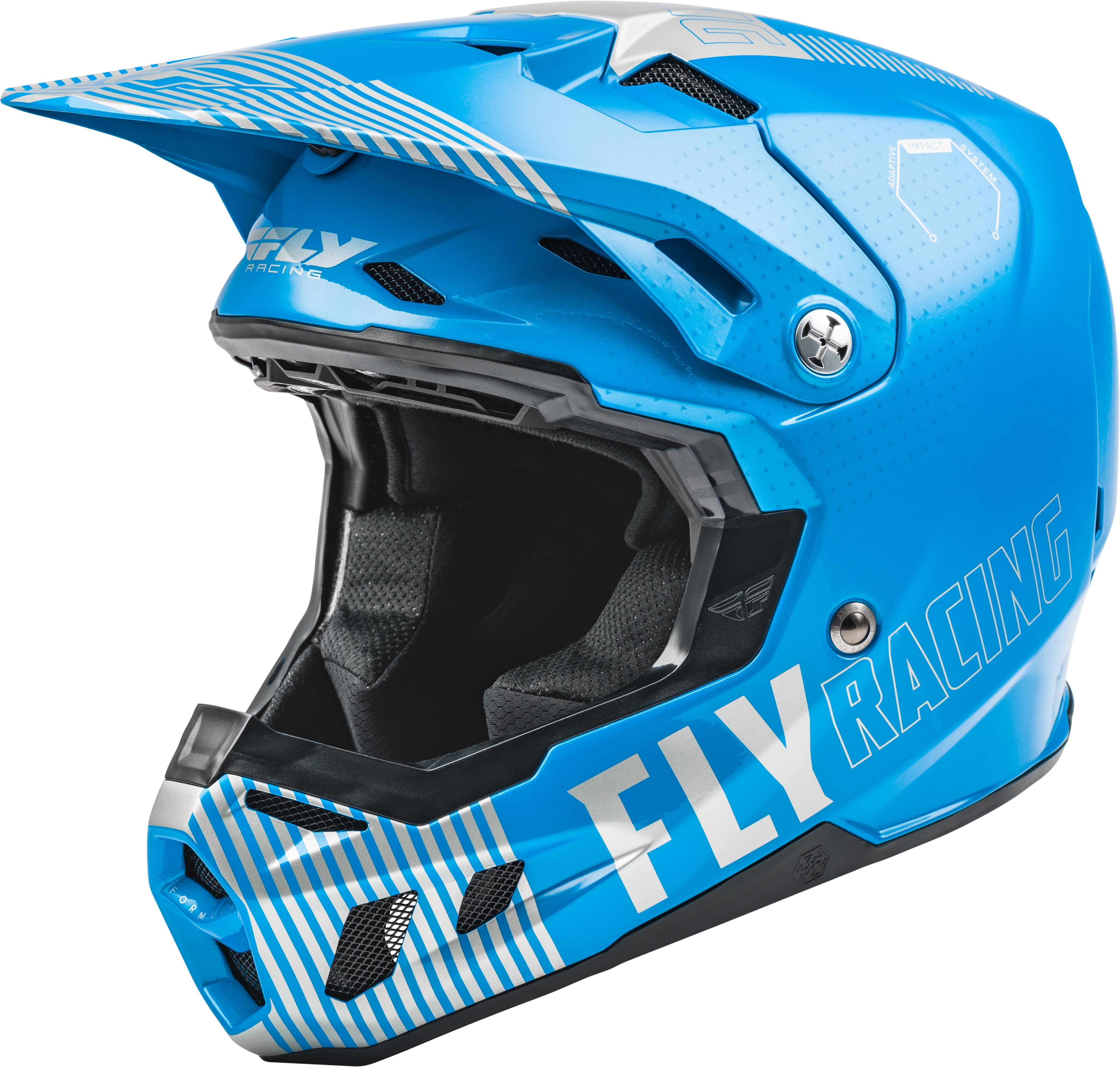 Fly Racing Youth Formula CC Primary Blue/Grey Helmet