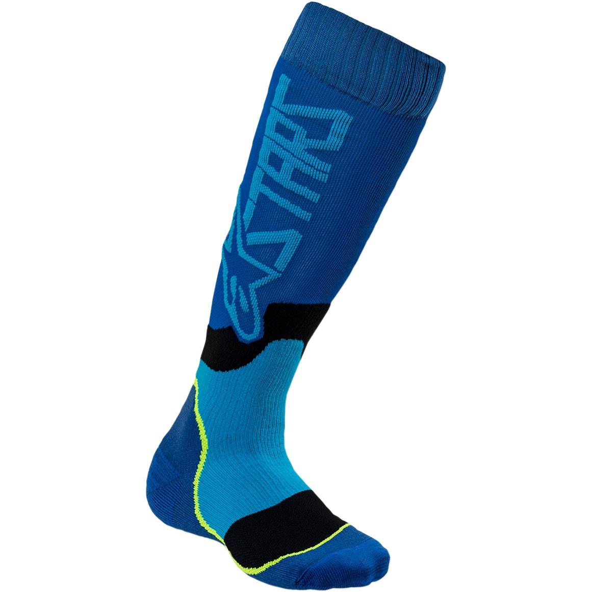 Alpinestars Youth MX Plus-2 Cyan/Blue Socks