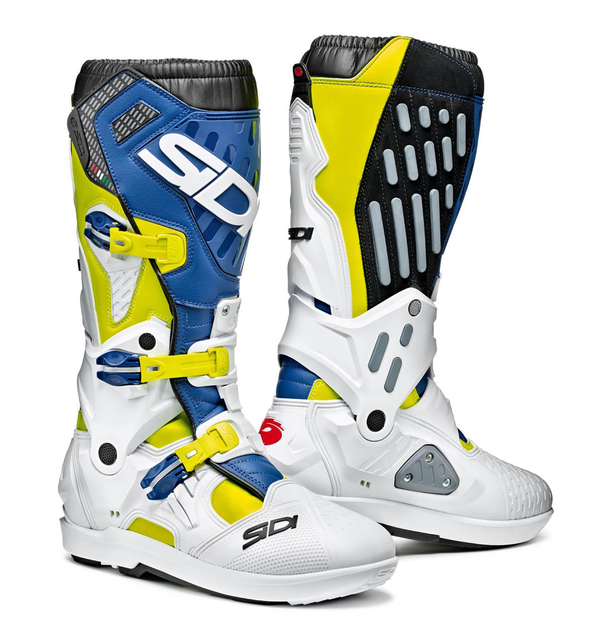 Sidi Atojo SRS Yellow/White/Blue Boots