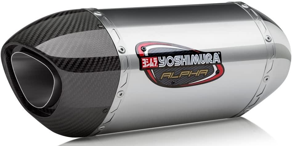 Yoshimura ALPHA Suzuki SV650 (17-20)/SV650X (19-20) Stainless Slip-On Exhaust/Stainless Muffler