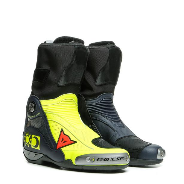 Dainese Axial D1 Valentino Replica Giallo-Fluo/Blue-Reggiani Boots