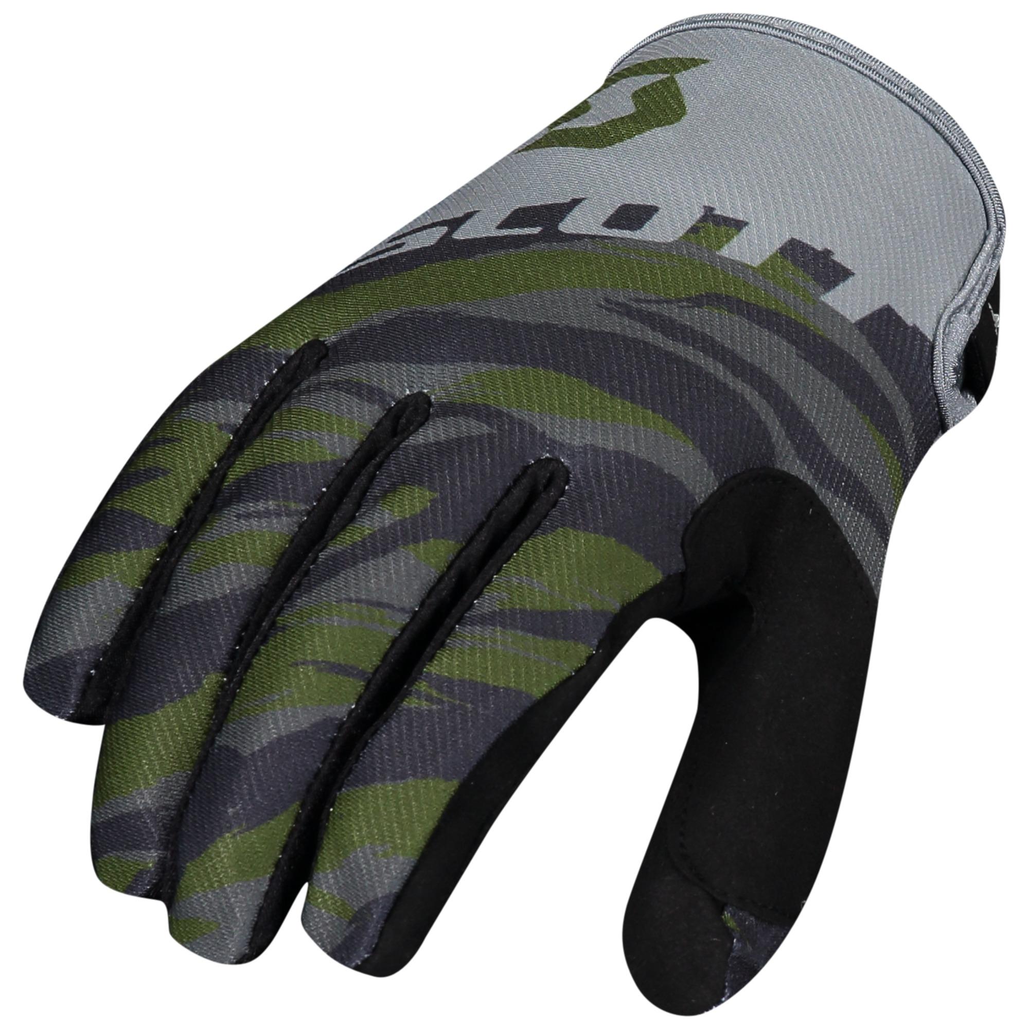 Scott Kids 350 Dirt Green Tan Gloves