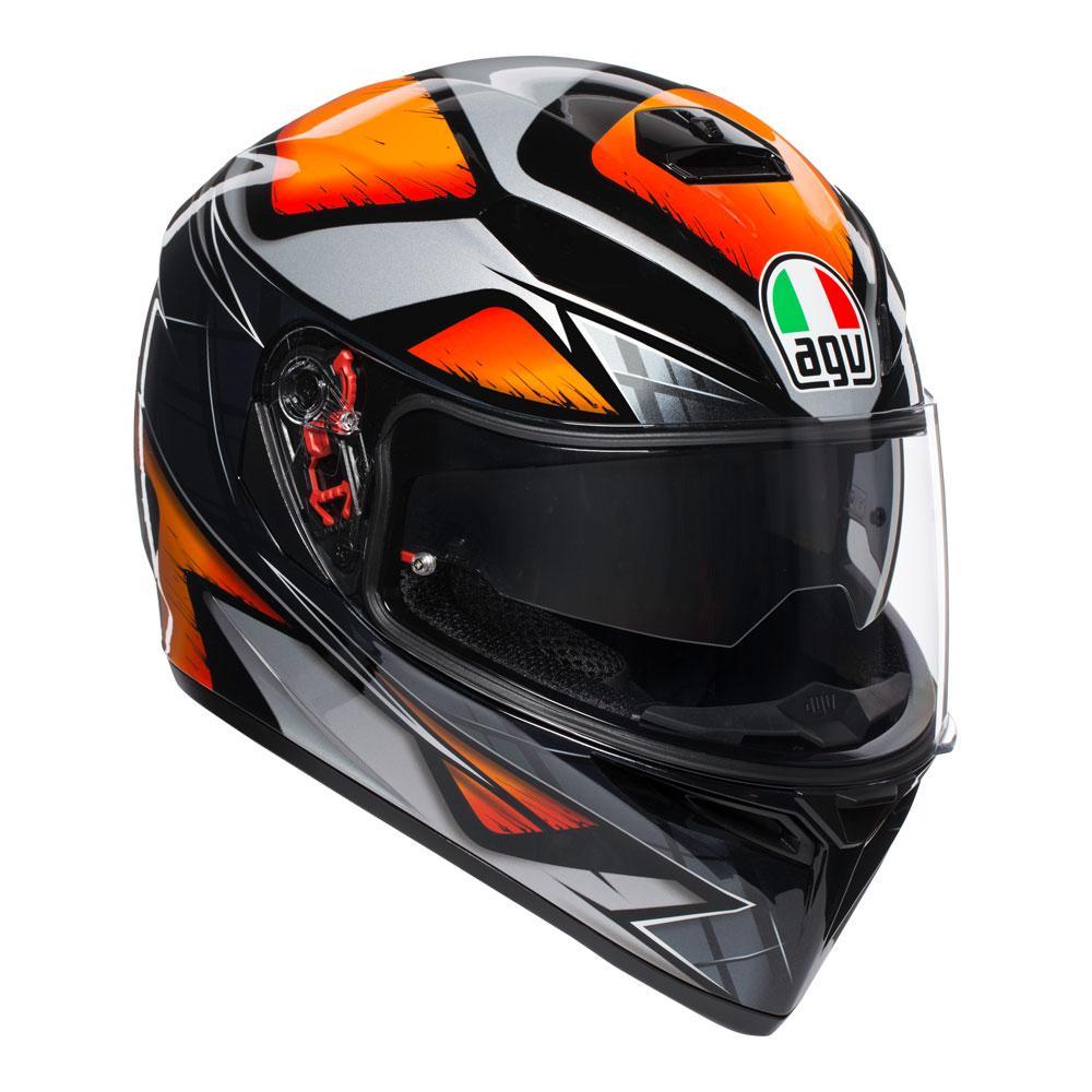 AGV K3 SV Liquefy Black/Orange Helmet