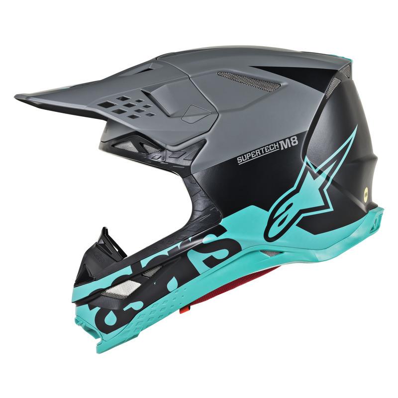 Alpinestars Supertech M8 Radium Matte Black/Teal Helmet
