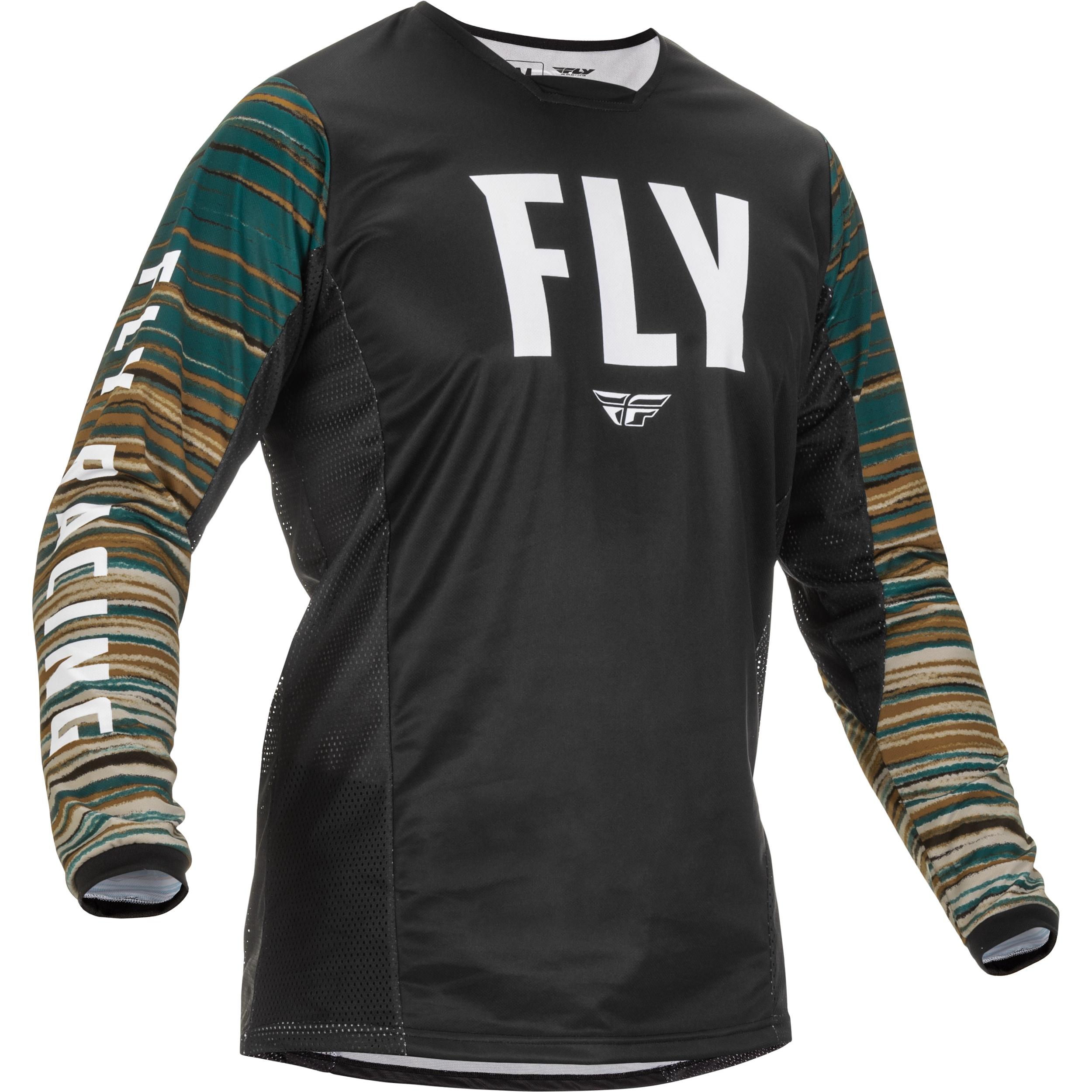 Fly Racing 2022 Kinetic Wave Black/Rum Jersey