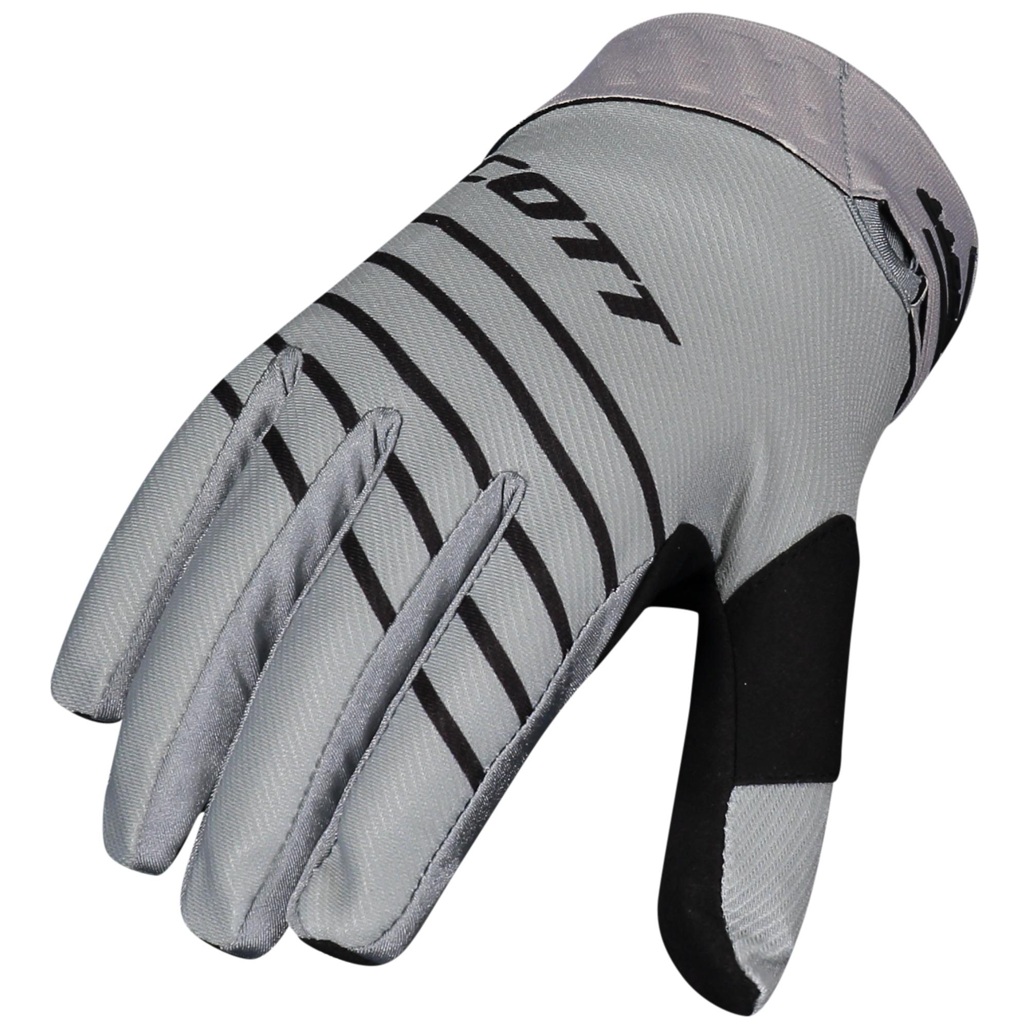 Scott 450 Angled Grey/Black Gloves