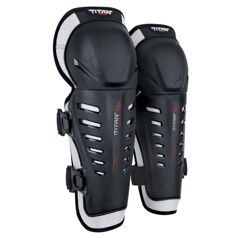 Fox Racing Titan Race Black Knee/Shin Guards
